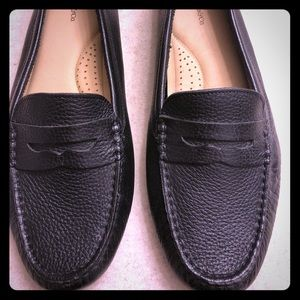 😎G.H.Bass Black Leather Driving Loafer😎